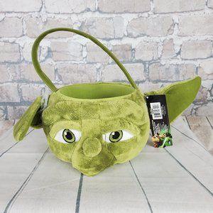 NWT 2012 Star Wars Yoda Plush Basket Halloween